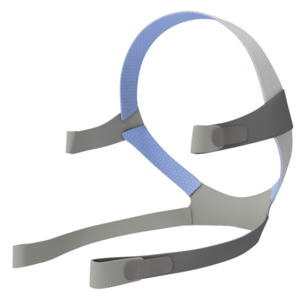 Blue and Gray Headgear Strap