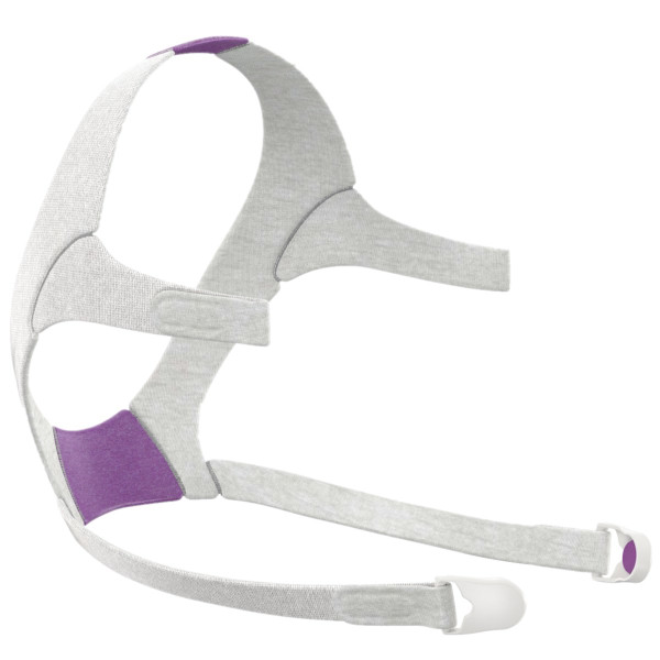Gray and Purple Headgear with Clips