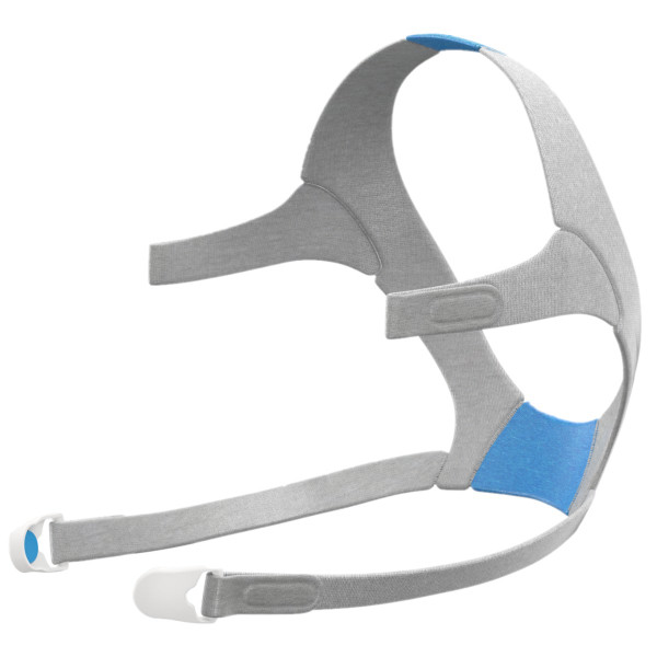 Blue and Gray AirFit F20 Headgear