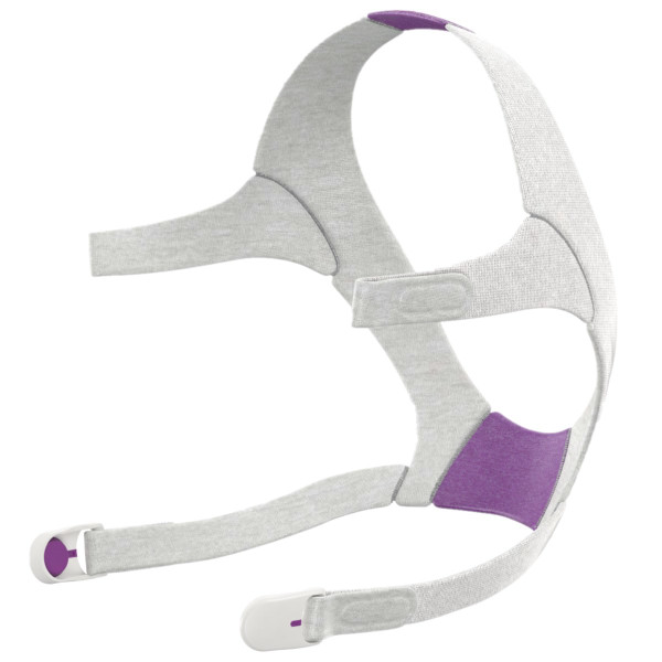 Purple and Gray Headgear Strap