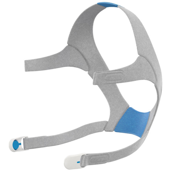 Blue and Gray Headgear with 2 Clips