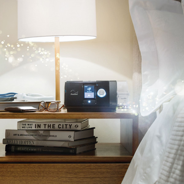 ResMed AirSense on Night Stand