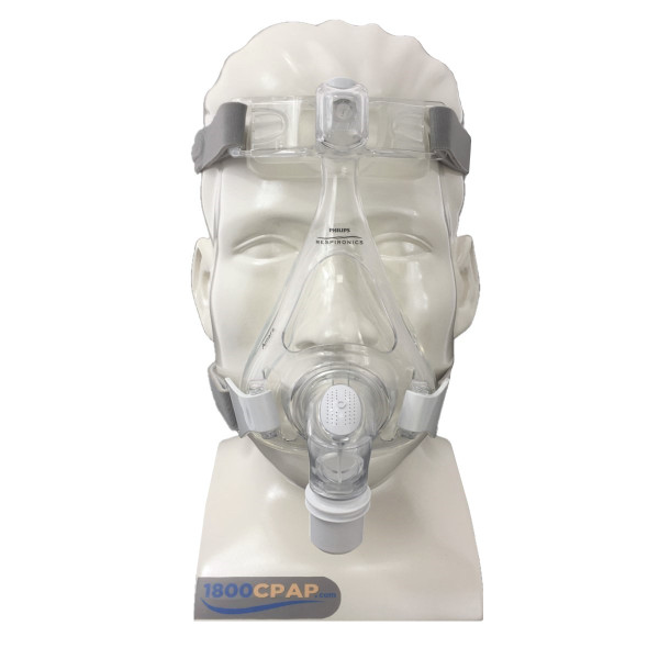 Clear Amara Mask on Mannequin Head