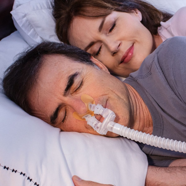 Man Sleeping with Bleep Interface