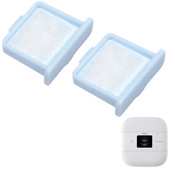 2 Blue Edged Filters by Machine