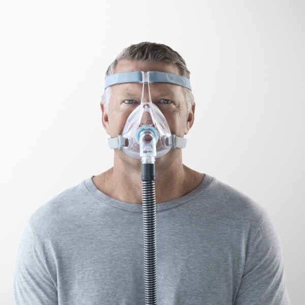 Man Wearing Vitera CPAP Mask