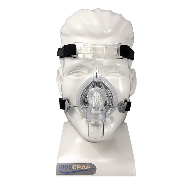 Mannequin Wearing 406 Nasal Mask