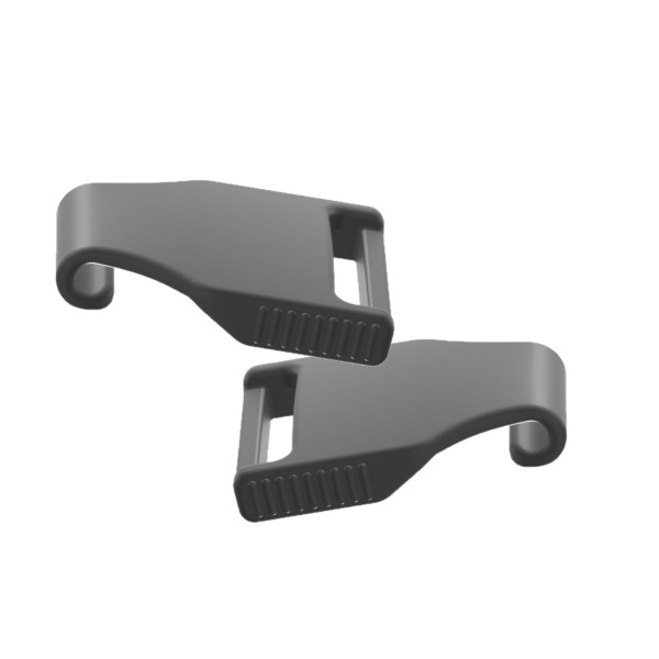 2 Hooked Gray Headgear Clips