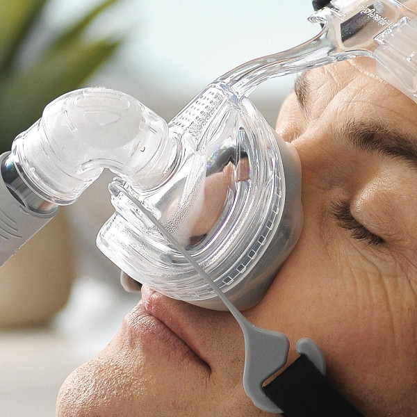Man Wearing Zest Q Nasal CPAP Mask