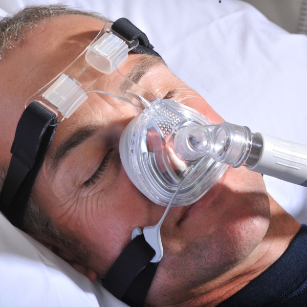 Sleeping Man Using F&P Zest Mask