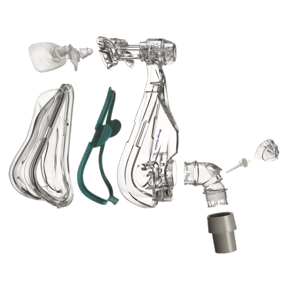 Mirage Quattro™ Full Face CPAP Mask with Optional Headgear