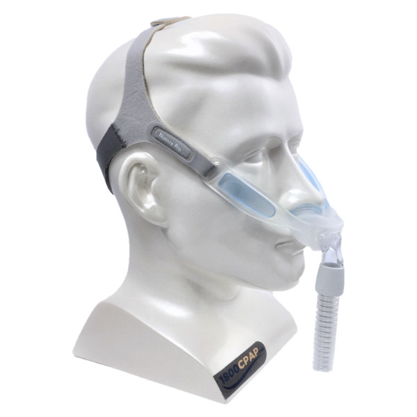 Model Wearing Nuance Gel CPAP Mask