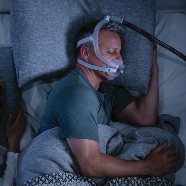 Man Asleep Wearing ResMed F30i