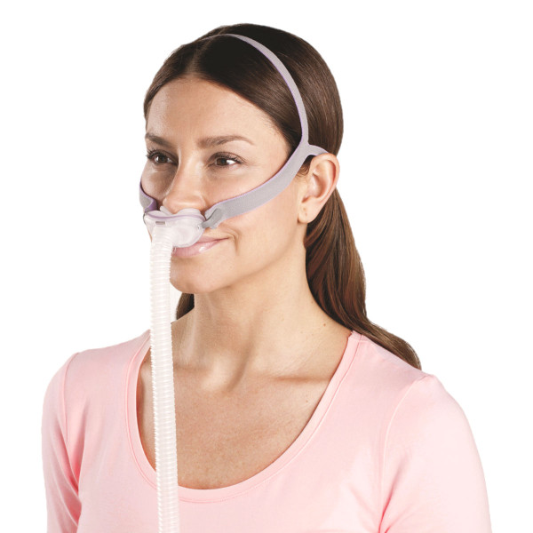 Woman Using P10 for Her Mask