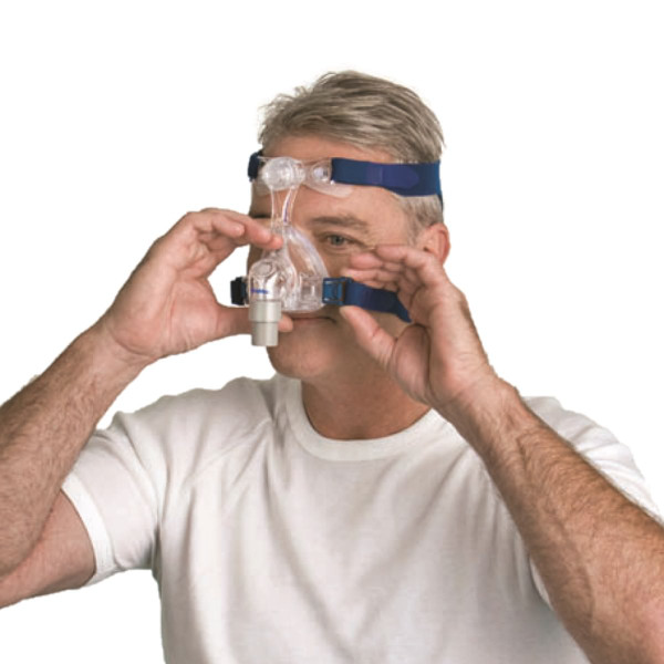 Man Adjusting Mirage Micro™ Mask