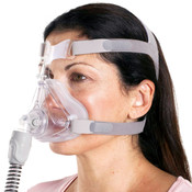 Woman Wearing Quattro Air Mask