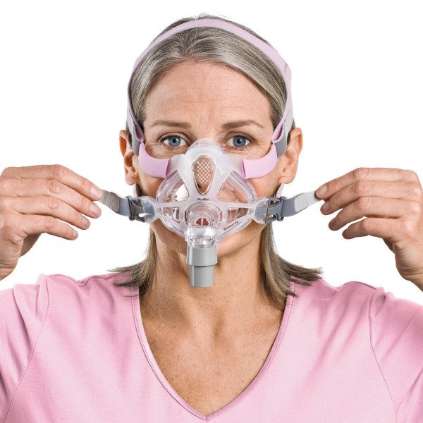 Woman Fitting Quattro Fx Mask