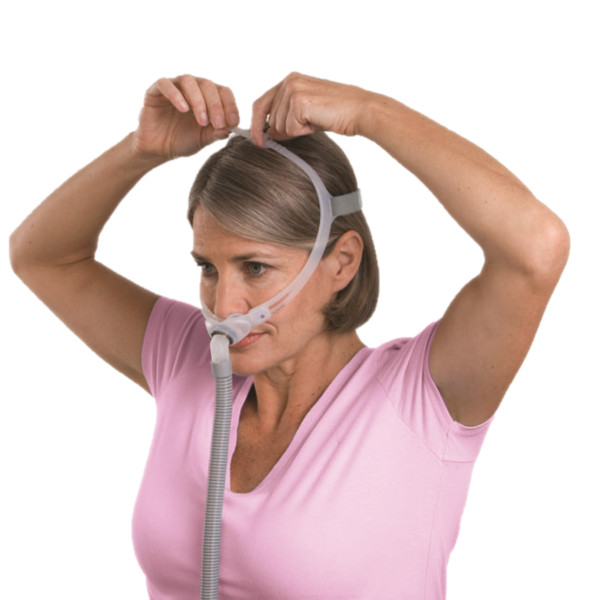 Woman Fitting Swift Fx for Her Mask