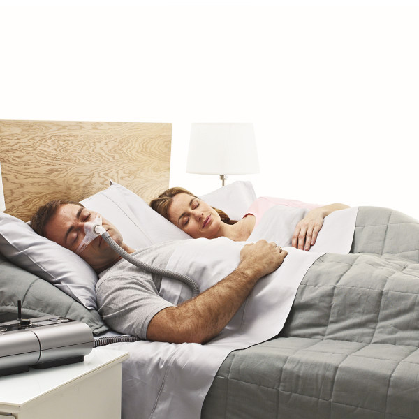 Couple Asleep Man Wearing Nano Mask