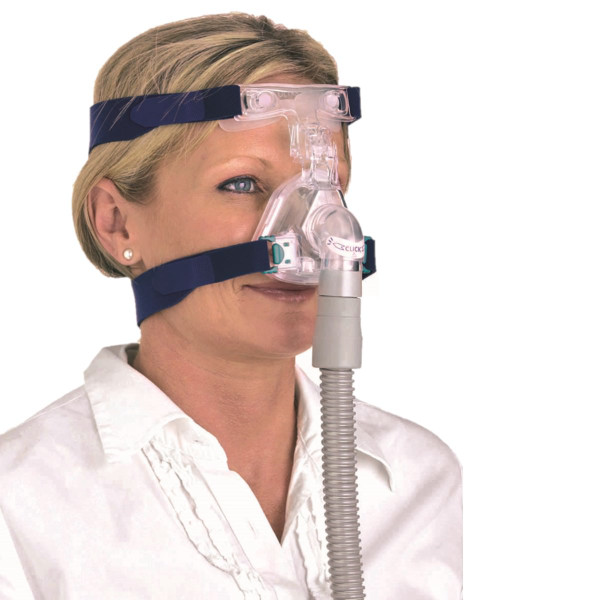 Woman Wearing Ultra Mirage II Mask