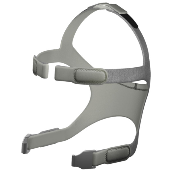 Gray Headgear with 2 Mask Clips