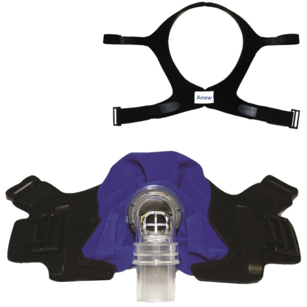 SleepWeaver Anew Full Face Cloth CPAP Mask Kit-Circadiance