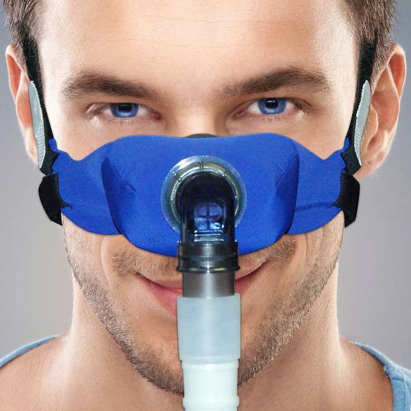 Man Wearing Elan Cloth CPAP Mask