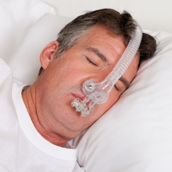 Male Asleep Wearing Tap® PAP