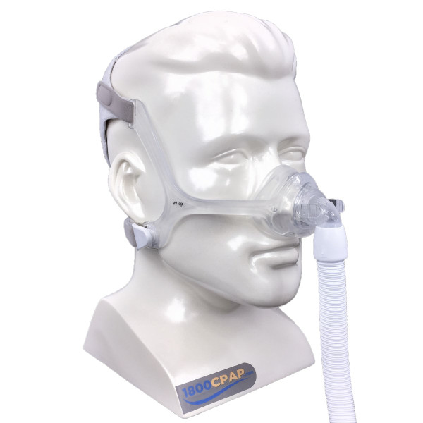 Clear Wisp Nasal Mask on Mannequin