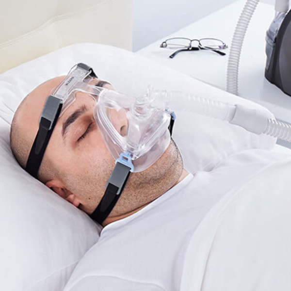 Sleeping Man with Wizard 220 Mask