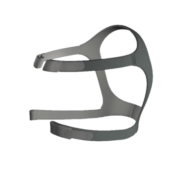 Gray Headgear with Velcro Tabs