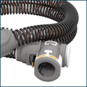 Coiled heated CPAP tube