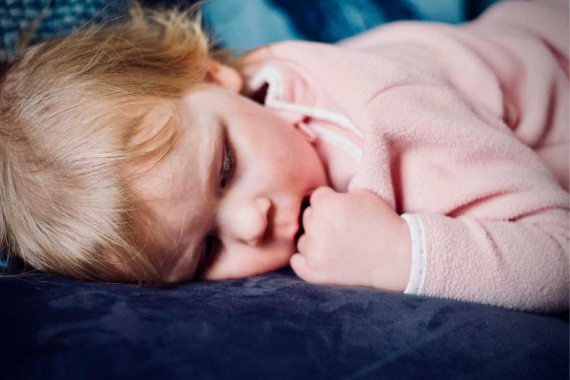Child sleeping peacfully